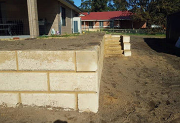 Retain limestone blocks Bunbury